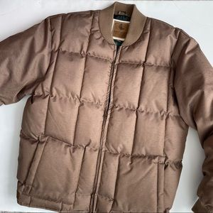 Cody James Brown Puffer Poly Down Coat Jacket L